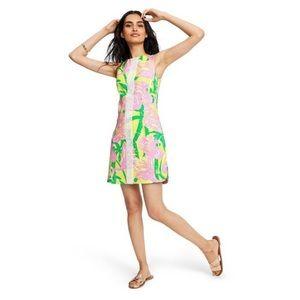 💗 Lilly Pulitzer Pink Yellow Mini Dress 16 Target